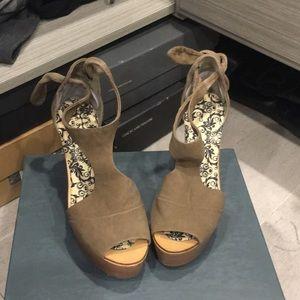 Kristin peeptoe wedge sandal, size 5